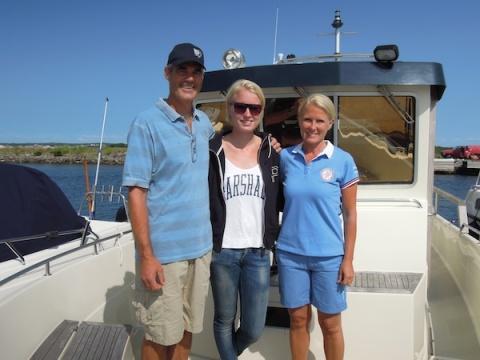 Båtfärd med Göran, Åsa och Sara