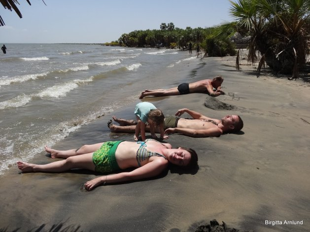 Sol och bad för trötta kroppar!
