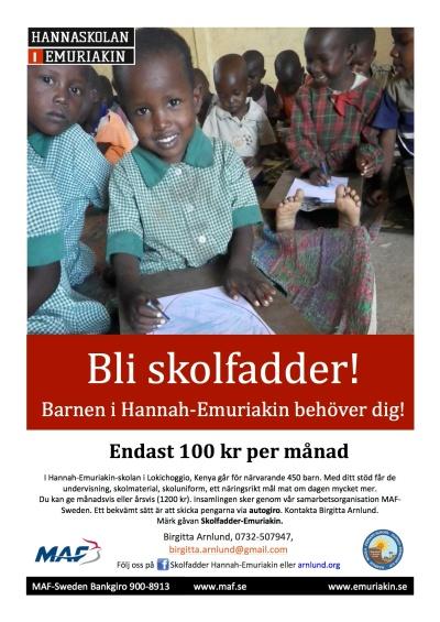 Hur du kan bli Skolfadder för dessa härliga barn!