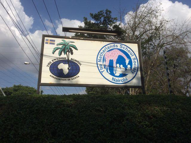 Svenska Skolan i Nairobi. Dess logga skapade jag 1991. Tänk att den lever än!