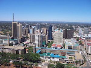 Nairobi på en, numer allt sällan, solklar dag.