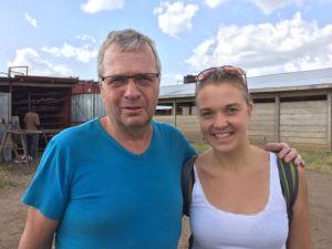 Bertil med sin dotter Axelina, som är medicinstuderande och också ville känna på Loki-livet.