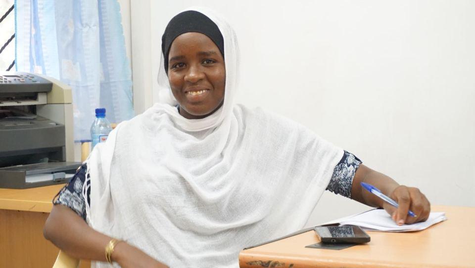 Khadidja, nutritionist i Seeds of Peace Africa